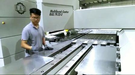 【重黎科技案例分享】RAS折弯中心手动上下料在金属天花领域的应用