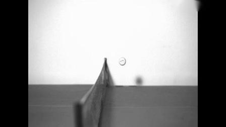 高速摄像机下乒乓球的飞行轨迹——西努光学