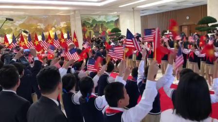 特朗普总统抵达越南政府总部