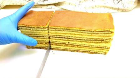 一层一层的海绵千层蜂蜜蛋糕的详细做法
