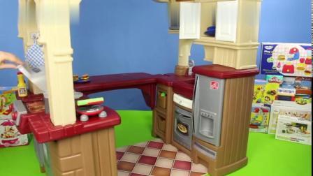 大型厨房仿真玩具-一起来烤香肠-做披萨