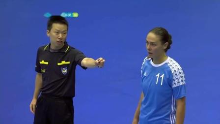 手球比赛 2018年亚运会女子手球小组赛 中国VS哈萨克斯坦