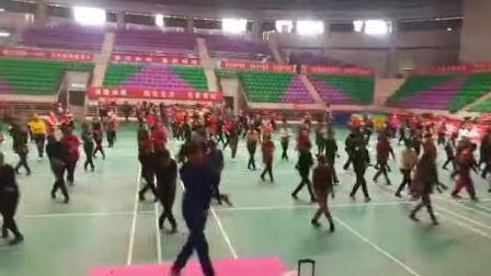 2019.2.28号健身舞蹈协会在晋中体育馆培训(点赞新时代)