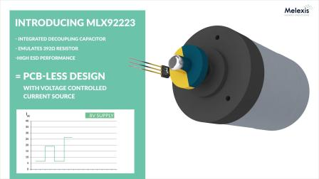 PCB-Less Hall-effect Latch for Seat Motor Positioning (MLX92223)