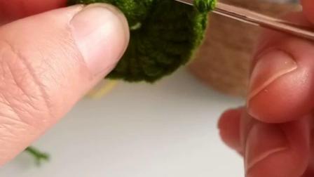 可米手工编织毛线盆栽玫瑰花教程2各种编法