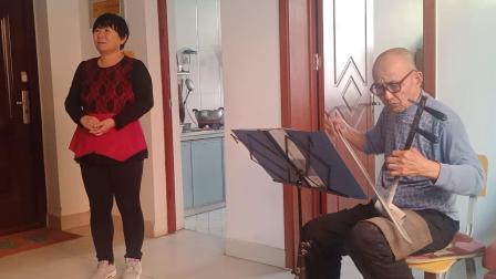 与洪华老师练唱《望江亭》赵堂社区