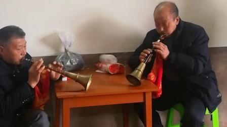 民间艺人,唢呐高手俞显政和谭志耀,巴东县白虎坡村婚礼习俗