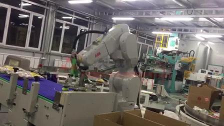大米自动装箱,机器人装箱
