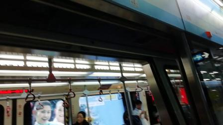 广州地铁APM线庞巴迪重联M1A008M1A010广州塔入站出站