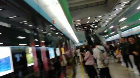 广州地铁APM线庞巴迪重联M1A014M1A005广州塔入站