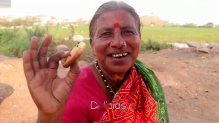 印度老奶奶,看看她如何做巧克力曲奇饼干,孩子们吃的美滋滋