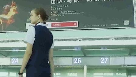 airwheel 智能跟随行李箱机场登机随拍