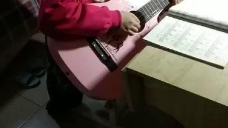 【济宁金金吉他艺术学校】李子奇同学练习吉他弹唱《送别》 2019.2.28