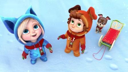 【原版儿童英语歌谣】十片小雪花 - 圣诞节日歌 Ten Little Snowflakes - Christmas Songs