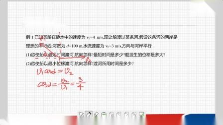 高中物理必修2-5-1-曲线运动习题课:小船渡河与关联速度