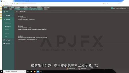 APJFX入金操作指南(柜台入金)