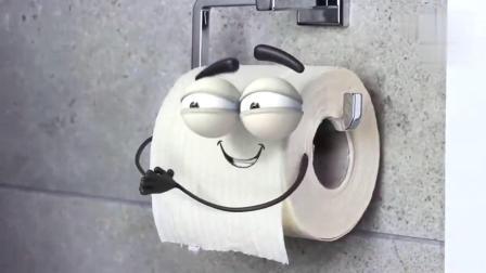 不忍直视的搞笑动画《厕纸的厄运》,呆萌厕纸的悲惨人生