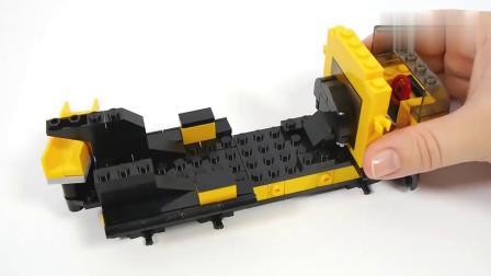 乐高益智玩具搭建一个水泥搅拌车模型