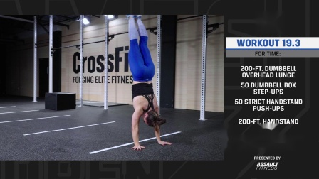 CrossFit  2019 Open  Workout 19.2 标准演示