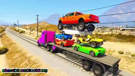 儿童早教 认识颜色 汽车总动员玩具视频第11集
