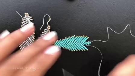 【串珠】羽毛毛衣链吊坠