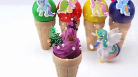 亲子趣味玩具 太空沙 橡皮泥手工做小马宝莉的冰淇淋43