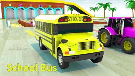 儿童认识颜色 挖土机玩具视频 汽车总动员 迷你卡车 消防车