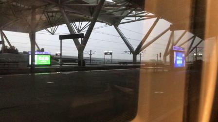 (南广线高铁视频)CRH2A 2473驶出广州南站 (广州南—南宁东)