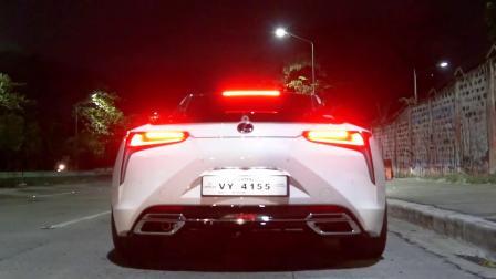 雷克萨斯 LC 500 改装ARMYTRIX阀门排气 释放V8狂野声浪 菲律宾深夜炸街💣💣💣