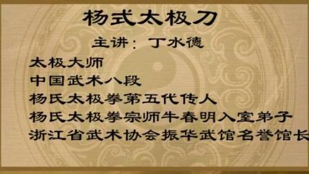 丁水德杨式太极刀52式教学(第一段)_标清