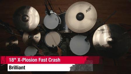 "SABIAN 18""AAX X-Plosion Fast Crash BR"