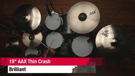 """SABIAN 19""""AAX Thin Crash BR"""