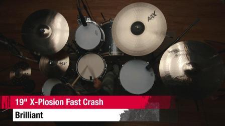 "SABIAN 19""AAX X-Plosion Fast Crash BR"
