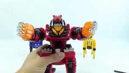 兽拳战队动物机器人玩具组装激气连者变形金刚