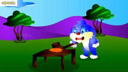小兔子试着吃胡萝卜有趣的儿童卡通影片
