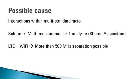 对多标准无线系统中的信号交互进行故障诊断 | 89600 VSA 软件 | 是德科技