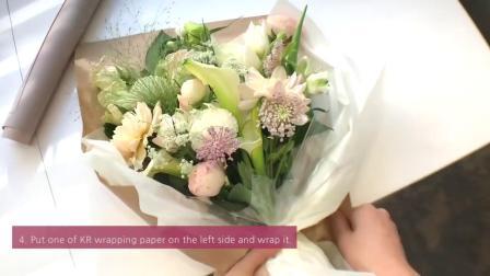 花艺插花视频教程韩式花束如何包装花束鲜花2