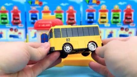 韩国泰露小巴士 弹射玩具 汽车总动员 挖土机2