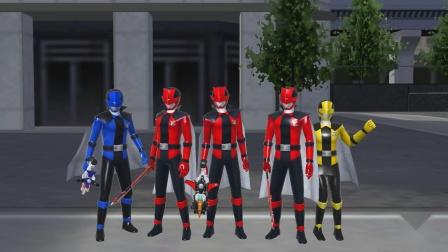 超级战队传奇战争快盗战队合体必杀