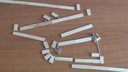 磁铁和大理石打造趣味鲁布·戈德堡机械 我花4分钟看完了