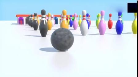 趣味益智学习玩玩彩色保龄球学习数字