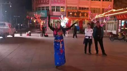 景泰县体育舞蹈协会王老师跳西宁锅庄