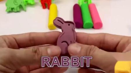DIY手工橡皮泥制作动物模型认识小动物,趣味学颜色