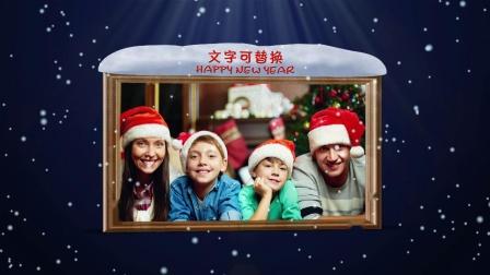 19ED298 简单的飘雪圣诞节制作ED模板edius片头模板微客素材网