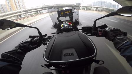 F750GS 骑行 中途加油