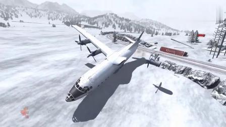 BeamNG:飞机加速到到几百公里时速再把汽车放下来,会发生什么?