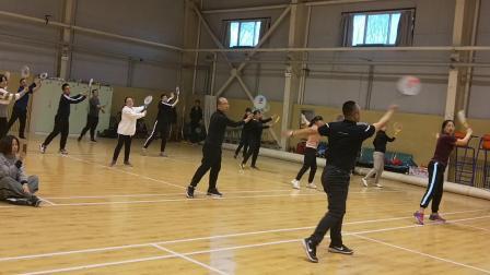 2019晋中市校园柔力球骨干教师培训班初级版《呼伦贝尔大草原》2   章海江老师和学员