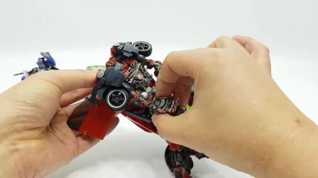 变形金刚大电影挡泥板变形成机器人
