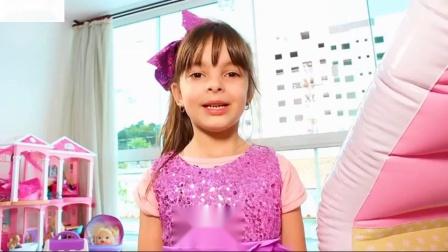 洛丽娜有一个冷孩子玩迪斯尼公主音乐茶车伊斯