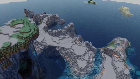 我的世界:大神玩创造造山又造海,最后造出了一个峡谷世界!